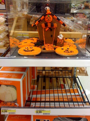Target gingerbread halloween haunted house