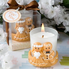 Gingerbread Bride Groom Candle