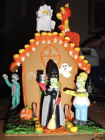 The Simpsons Gingerbread House
