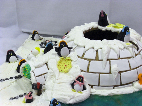 Amazing Penguin Gingerbread House Igloo