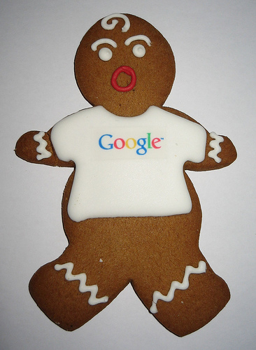 Google Gingerbread Man Cookie
