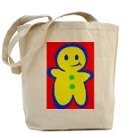 gingerbread boy reuseable bag