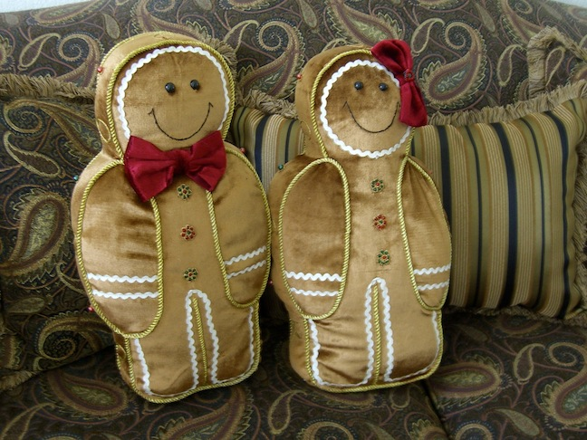 Gingerbread Kids Pillows