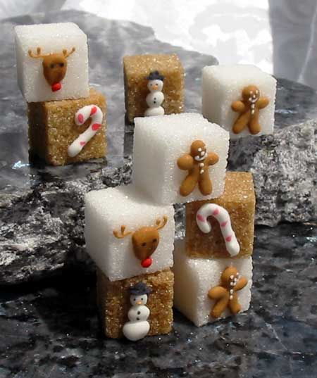 Gingerbread Sugar Cubes