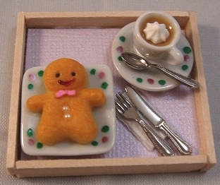 Handmade Gingerbread Man & Coffee