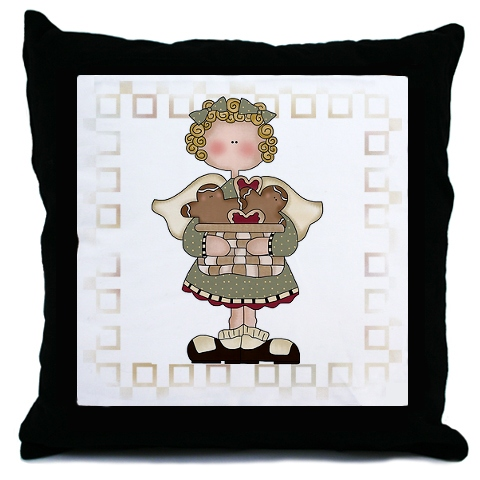 PRIM ANNIE GINGERBREAD PILLOW