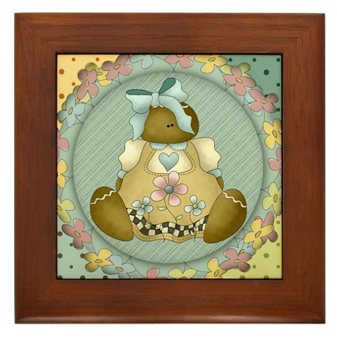 Prim Gingerbred girl ornie tile