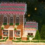 Pink Gingerbread Brick House