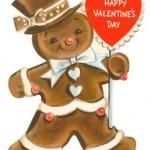 Vintage Gingerbread Man Valentine