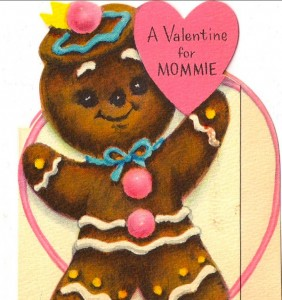 Vintage Valenint Gingerbread Girl