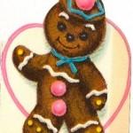 Vintage Valentine Gingerbread Kids