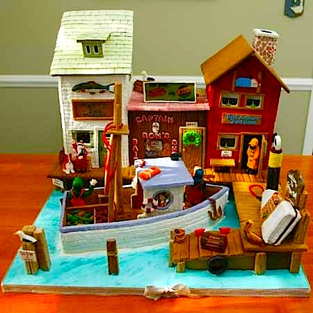 Seaside Town Gingerbread House